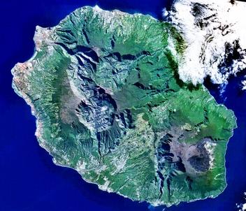 Carte mentale pour revoir l'aménagement d'un territoire ultramarin, l'île de la Réunion